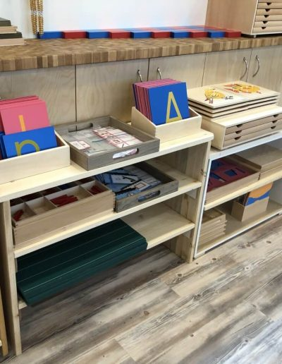 Montessori inside shelves