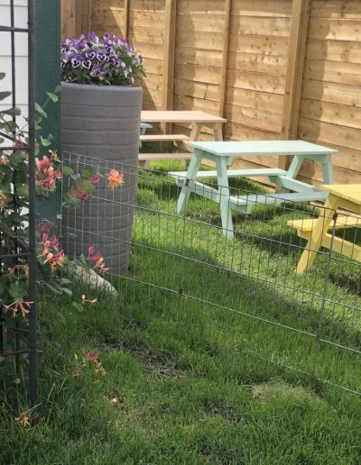 Montessori outdoor tables for activities